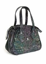 VIVIENNE WESTWOOD BLACK IRIDESCENT SPACE MINI HANDBAG PURSE *BRAND NEW*