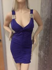Frederick's of Hollywood Purple Ruched Mini Dress NWOT  M cocktail clubbing mini