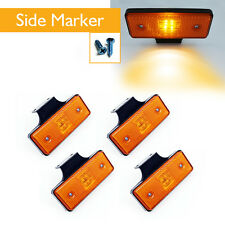 4 pcs 12v LED amber side marker light indicator trailer truck lorry van vehicle