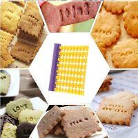 Alphabet Number Letter Cookie Biscuit Stamp Embosser Cutter DIY Cake Fondant
