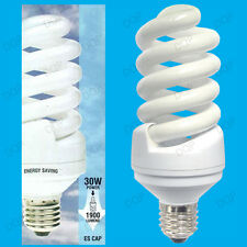 2x 30W =150W Daylight Low Energy CFL SAD 6400K White Light Bulbs ES E27 Lamps