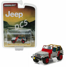 GREENLIGHT 1993 JEEP WRANGLER YJ RED AND GREY HOBBY EXCLUSIVE 1/64 CAR  29856