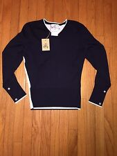 "NWOT $350 Brooks Brothers ""Black Fleece"" V-Neck Sweater XS Small BB0 Thom Browne"