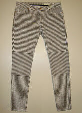 "BEAUTIFUL SASS&BIDE GREY&WHITE STRIPED SKINNY FIT JEANS 30 ""OFF THE GROUND"""