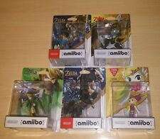 PACK AMIIBO THE LEGEND BREATH OF THE WILD SEALED WOLF, SHEIK, TOON ZELDA, LINK