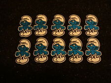 New job lot 10 pieces of Embroidered SMURF Iron On Cloth Patch