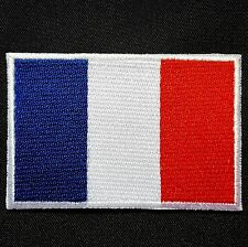 France Ecusson patch brodé thermo drapeau France Bleu Blanc Rouge 7 x 4,5cm