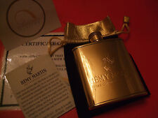 24Ct Gold Plated Remy Martin Fine Champagne Cognac Hip Flask + Gift Bag