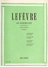 Lefevre: 60 Esercizi Scelti Metodo Pel Clarinetto (Giampieri) - Ricordi