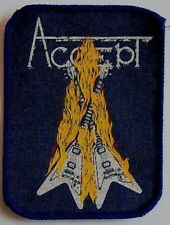 ACCEPT 'RESTLESS AND WILD'  vintage sew on printed cloth patch