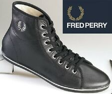 Para Mujer Fred Perry Phoenix Leather Hi Top Trainers-Uk Size 3.5 - Negro-b2064w