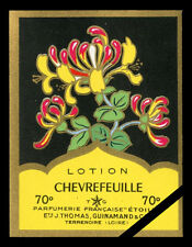 Vintage French Perfume Soap Label Chevrefeuille Antique Cologne Etoile France