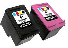 2PK Ink For HP 61 HP61 CH561WN CH562WN Black & Color Deskjet 1510 1512 !New Gen!