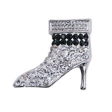 Clay Rhinestone high-heeled shoes Chunk Snap Button fit for Noosa Necklace KA221