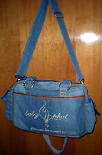 BABY PHAT GIRLZ Kimora Lee Simmons Denim Diaper Bag Carry On Purse Tote NEW