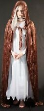 Medieval-Pagan-Gothic-Cosplay-Larp-FULL LONGUEUR BRUN CAPE CAPUCHE