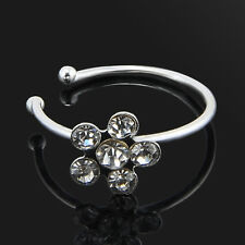 Small Thin Crystal Diamante Nose Ring Hoop Stud-Sparkly Crystal Nose Ring Gift