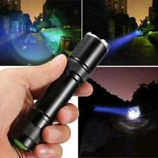2200lm CREE XML T6 LED Zoomable 18650 Flashlight Torch Lamp Focus Lamp Black WT
