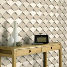 NEW AS CREATION ABSTRACT DIAMOND PATTERN 3D EFFECT TEXTURED  WALLPAPER 960312
