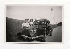 PHOTO ANCIENNE Snapshot Voiture Automobile Auto Peugeot Renault ? Vers 1940