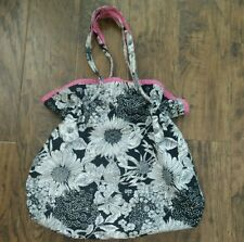 Liberty Of London Bag Black & White/Hot Pink Interior -- Hobo Large Bag