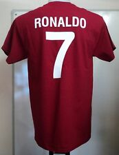 PORTUGAL RONALDO 7 RETRO STYLE T-SHIRT ADULTS SIZE SMALL BRAND NEW
