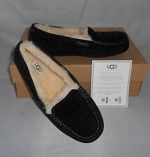 UGG WOMEN'S BLACK SUEDE  ANSLEY SLIPPER SHOES SIZE 9 NEW