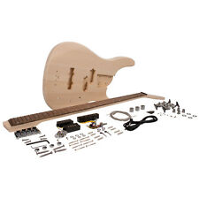 Modern Bass Style DIY Electric Bass Guitar Kit - Unfinished Luthier Project