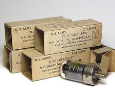 4x Radio-Röhre Sylvania 7V7, Metal Base Radio Tube made in 1944, NOS