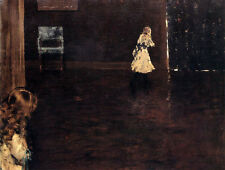 Art Oil painting William Merritt Chase  Young girls playing Hide and Seek canvas