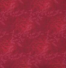 QUILT FABRIC: 100% COTTON, TONAL VINEYARD, REAL RED, TV-09, By The Yard