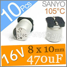 10 16V 470UF 8x10mm Sanyo SMD Aluminum Solid Capacitor