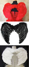 Red Feather Wings Angel Fairy Costume Carnival Burlesque Halloween