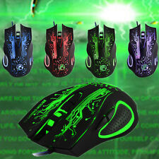 2016 2400DPI 6 Buttons LED Optical USB Wired Gaming Mouse Mice for LOL RAZER WOW