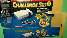 NES Challenge Set BOX ONLY Flattened 1992 Original Nintendo Packaging