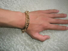 "9"" Chain 18K Gold Filled No Stone Men's Bracelet or Lady' Anklet & Xmas Gift Box"