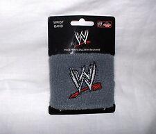 WWE Wrestling - Schweißband,grau mit Logo---Neu,OVP,RARITÄT
