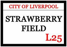 Huge Strawberry Fields Fridge Magnet 30cm x 21cm City Of Liverpool L25