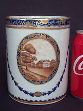 RARE LARGE 18th C CHINESE QIANLONG AMERICAN FEDERAL COLONIAL 1790 TANKARD CUP