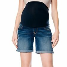 MATERNITY Oh Baby by Motherhood™ SECRET FIT Distressed Jean Shorts Medium/M $40