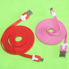 Flat Sync Mirco USB Data Charger Cable for LG Optimus Dynamic L38C Cell Phone