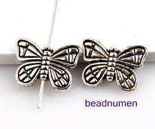 50pcs Zinc alloy nice butterfly charms beads hole(1.3mm) 2B86
