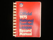 1975 Official National Football League (NFL) Record Manual