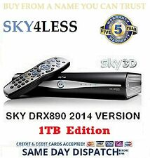1TB EX DEMO SKY + HD BOX SATELLITE RECEIVER AMSTRAD DRX890 ☆MASSIVE 1TB UPGRADE☆
