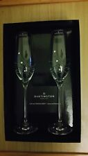 Dartington Glitz Box Set of two Champagne Glasses with Swarovski Crystals