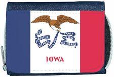 Iowa Flag Denim Wallet