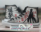 Attack on Titan Eren Cosplay Canvas Shoes Couple Casual Sneakers High Ankle