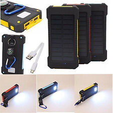 300000mAh Dual USB Portable Solar Battery Charger Solar Power Bank NEW