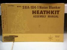Heathkit SBA-104 Noise Blanker Assembly Manual