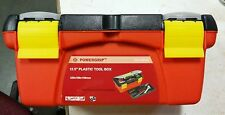 Tool Box Plastic 12.5inches for Tools, Medicines, Make-Up Orange